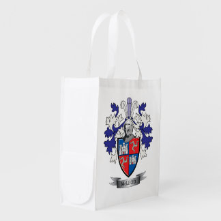McLeod Family Crest Coat of Arms Reusable Grocery Bag