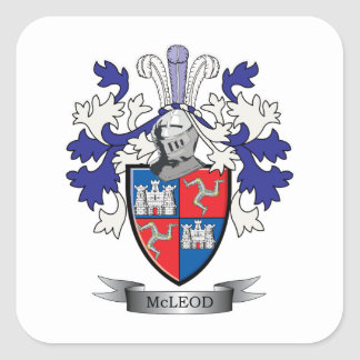 McLeod Family Crest Coat of Arms Square Sticker