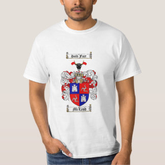 Mcleod Family Crest - Mcleod Coat of Arms T-Shirt