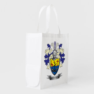 McPherson Family Crest Coat of Arms Market Totes