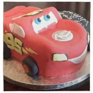 McQueen car cake Napkin