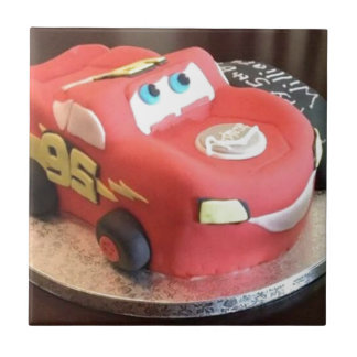 McQueen car cake Tile