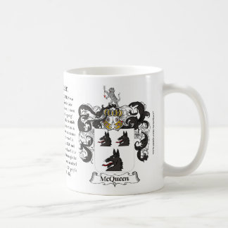 McQueen, the Origin, the Meaning and the Crest Coffee Mug
