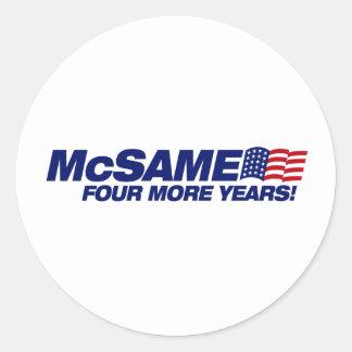 McSame McCain Adhésif Rond