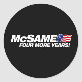 McSame McCain  Round Stickers