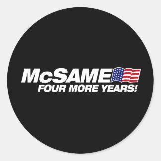McSame McCain Sticker Rond