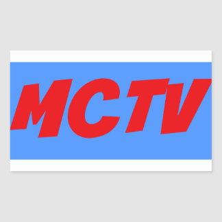MCTV print sticker