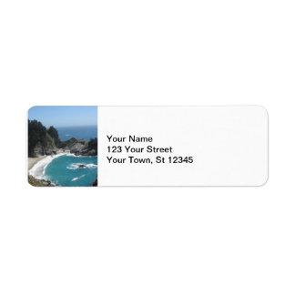 McWay Falls -Big Sur Return Address Label