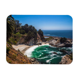 Mcway Falls in Julia Pfeiffer Burns state park Rectangular Photo Magnet