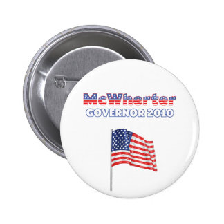 McWherter Patriotic American Flag 2010 Elections 2 Inch Round Button