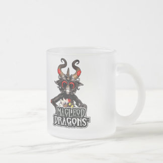 MD Black Dragon 10 oz. Frosted Mug Frosted Glass Mug