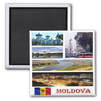MD - Moldova - Collage Mosaic Square Magnet