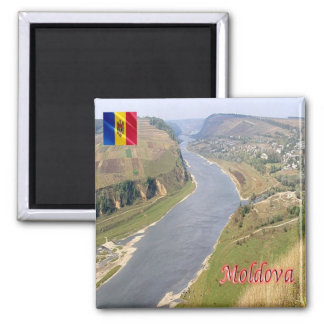 MD - Moldova - Dniester Valley Panorama Square Magnet