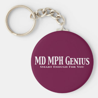 MD MPH Genius Gifts Keychain