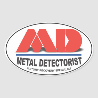MD Oval Stickers