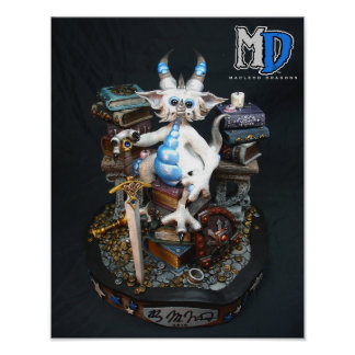 "MD White Dragon 11""x14"" Mini Poster"