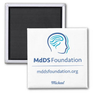 MdDS Awareness 2 Inch Square Magnet