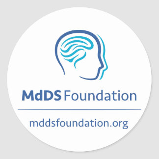 MdDS Awareness Sticker, 1½ inch (sheet of 20) Classic Round Sticker