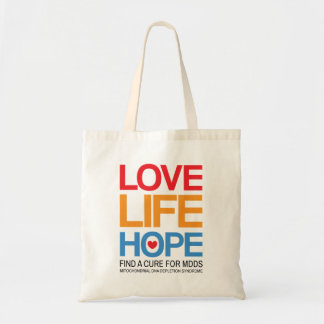 MDDS awareness tote bag - find a cure
