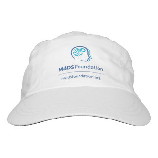 MdDS Awareness Woven Performance Hat, White Hat