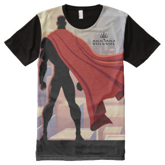 Me Against the World 101 (Super Hero) All-Over-Print T-Shirt