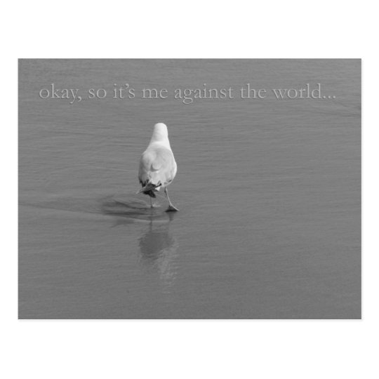 Me against the World Postcard