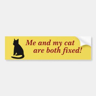 Me And My Cat Bumper Sticker