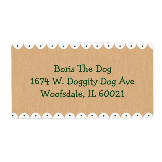 Me and My Dog Large Address Label