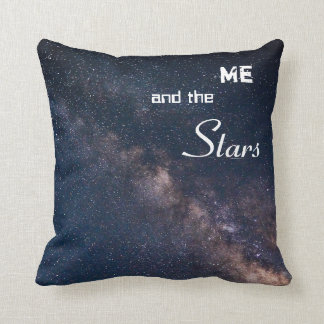 Me and the Stars Throw Pillow