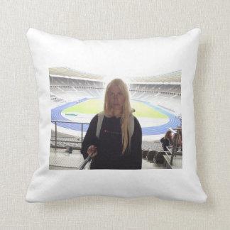 Me at the Olympic Stadium !!! Throw Pillow