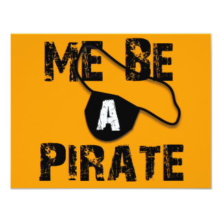 Me Be A Pirate Apparel and Gifts Card