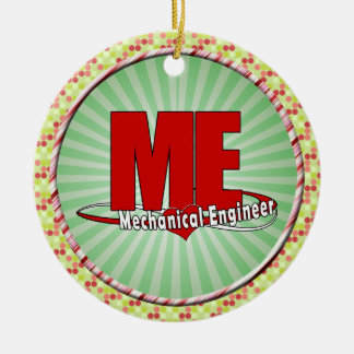 ME BIG RED LOGO MECHANICAL ENGINEER CERAMIC ORNAMENT