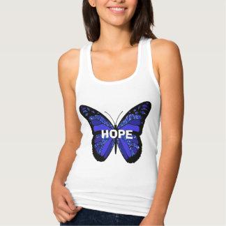ME/CFS  Blue Hope Butterfly Survivor Shirt