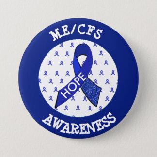 ME/CFS Syndrome Awareness Ribbon Button