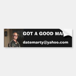 me close up sept 06, datemarty@yahoo.com, GOT A... Bumper Sticker