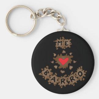 Me Encanta Barro Basic Round Button Keychain
