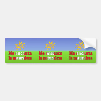 Me Encanta la Naturaleza - I Love Nature Peruvian Bumper Sticker
