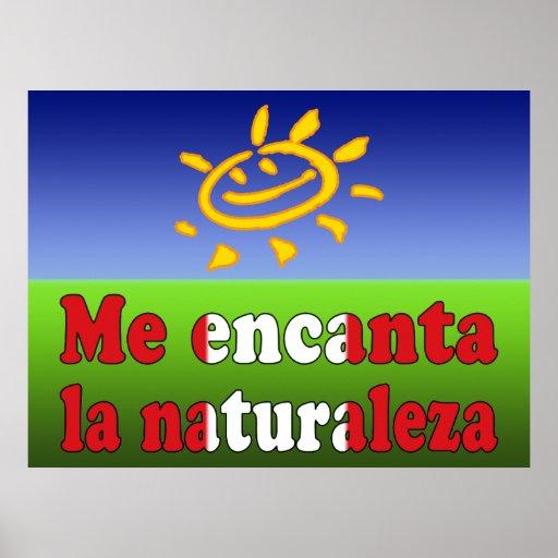 Me Encanta la Naturaleza - I Love Nature Peruvian Posters