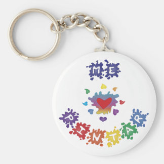 Me Encanta Pintar Basic Round Button Keychain