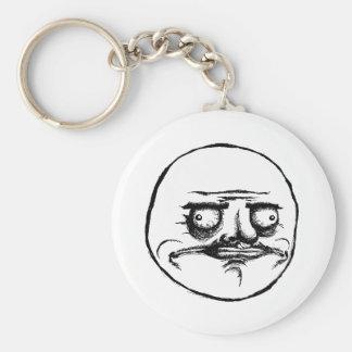Me Gusta Basic Round Button Keychain