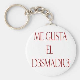 Me Gusta El Desmadre Basic Round Button Keychain