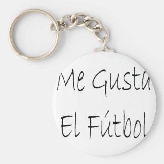 Me Gusta El Futbol Basic Round Button Keychain