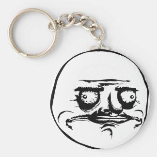 Me Gusta face Basic Round Button Keychain