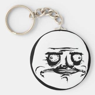 Me Gusta Face Meme Basic Round Button Keychain