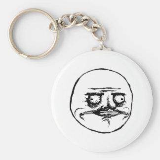 Me Gusta Rage Face Meme Basic Round Button Keychain