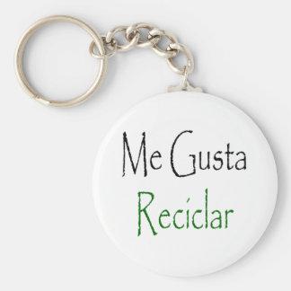 Me Gusta Reciclar Basic Round Button Keychain