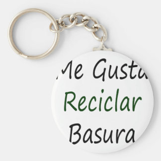 Me Gusta Reciclar Basura Basic Round Button Keychain