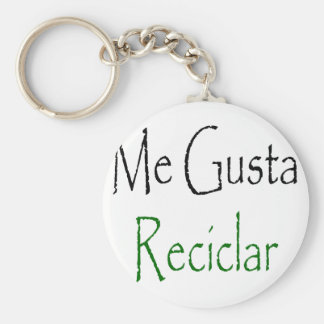 Me Gusta Reciclar Key Chains