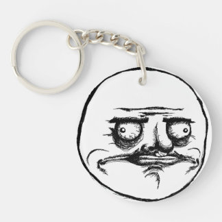 Me Gusta Single-Sided Round Acrylic Keychain
