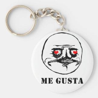 Me Gusta Valentine in Love - meme Keychain